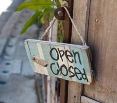 Türschild,  Closed, Geschlossen